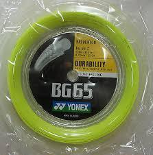 YONEX BG65 STRING 200m YEL   TALIANOS SPORTS